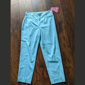 $295 Basler Palm Beach ankle pants aqua size 6